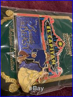 Disney El Capitan Theatre Marquee LE 300 Pin Belle Beauty and The Beast DSF DSSH