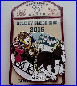 Disney Fort Wilderness Sleigh Ride Pin Beauty And The Beast Belle LimitedEdition