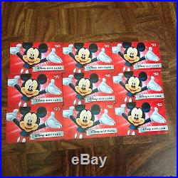Disney Gift Card Excepted At Any Disney, Store, Theme Park, Total Value $450