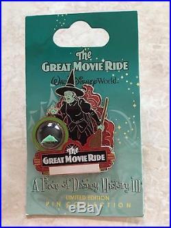 Disney Great Movie Ride Piece of History Pin LE 3500 2008 Series 3 Wizard Oz