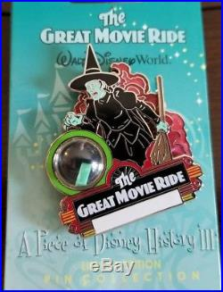 Disney Great Movie Ride Piece of History Pin LE 3500 2008 Series 3 Wizard Oz The