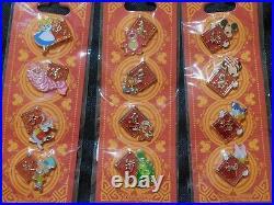 Disney HKDL 2014 Hidden Mickey Chinese New Year COMPLETE 12 Pin Set HONG KONG
