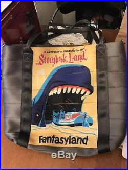Disney Harveys 60th anniversary Poster Tote Storybook Land Blue Whale