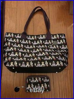 Disney Harveys Villains Wanderer Bag Purse AND Matching Wallet