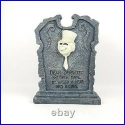 Disney Haunted Mansion PHINEAS and DAVE GHOST Light Up Tombstone Big Fig