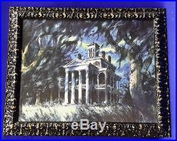Disney Haunted Mansion Theme Park Ride Framed Print- Beautiful (LH-130)