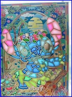 Disney Hawaii Stitch Scrump Fantasy Pin Jumbo Stained Glass Window RARE LE100