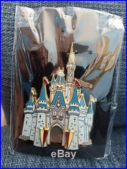 Disney Jumbo 3D Cast Member Exclusive Castle Series Slider Pin 4 pins