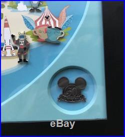 Disney Land Resort Retro Collection 11 pins in a Framed Set