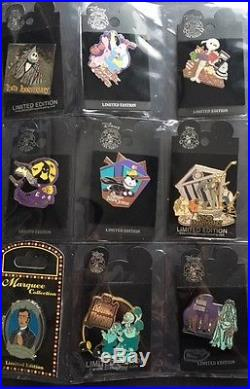 Disney Large Lot of 50 Haunted Mansion Nightmare Halloween WDI LE Cast pin
