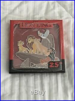 Disney Lion King 25th Anniversary Jumbo Pin Simba Mufasa Sarabe Zazu Scar New