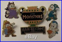 Disney Little Monsters 1997 on Main Street Hercules Donald Nephews 5 Pin Set