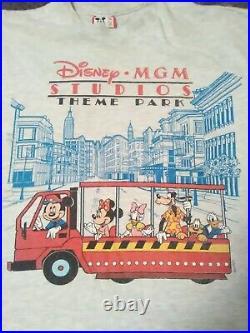 Disney MGM Studios Theme Park (L/XL) Vtg Mickey & Friends Street Trolley T-shirt