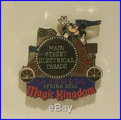 Disney Main Street Electrical Parade Farewell pin Set Framed on Poster