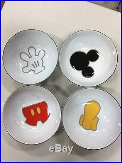 Disney Mickey Mouse Parts Set of 4 bowls. Theme Parks Multi-Color