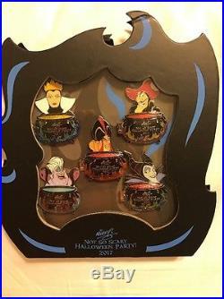 Disney Mickey Not So Scary Halloween Party 2017 Box Set 3-D Pin LE 1000 NEW