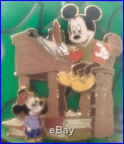 Disney Mickey's Christmas Carol Pin Set LE 200 Rare Mickey Donald Goofy Scrooge