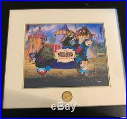 Disney Mickey's Parti Gras Villas Crew Hag Smee Goon Diablo Framed Pin Set LE 50