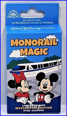 Disney Monorail Magic Mystery Box Collection 12 Pin Complete Set LR NEW RARE