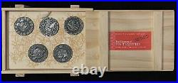 Disney Museum Of Pin-tiquities Boxed Set Chaser Coin Pins Stitch Figment Mickey