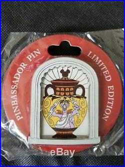 Disney Museum of Pin-tiquities Figment Greek Roman Vase Pinbassador Pin LE 250
