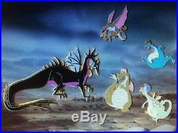 Disney Naughty and Nice Dragons LE 12 Framed Pin Set