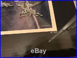 Disney Night On Bald Mountain Framed 8 Pin Set Fantasia Chernabog LE 1500 with COA