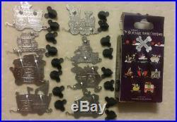 Disney Nightmare Before Christmas NBC Mystery Train Railroad 8 Pin Set Complete