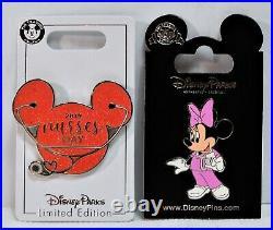 Disney Nurses Day 2019 Mickey Head Icon & Minnie 2 Pin Set LE 2000 BRAND NEW