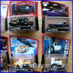 Disney PIXAR Cars STAR WARS 12 CHARACTERS Theme Parks set lot 15 diecast 2013/14