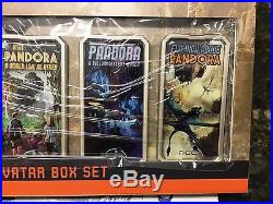 Disney Pandora 5 Poster Pin Set Limited Edition of 250 + Opening Day Park Map