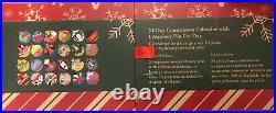 Disney Parks 2020 Pin Trading 24 Day Christmas Countdown Advent Calendar Pin Set