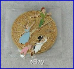 Disney Parks 65th Anniversary Peter Pan Pin LE 1000 Jumbo Wendy Michael Big Ben