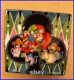 Disney Parks Alice In Wonderland Tea Set. Ceramic Plates, Tea Cups, Mugs
