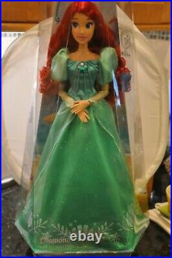 Disney Parks Ariel Le 30th Anniversary Diamond Castle Collection Doll