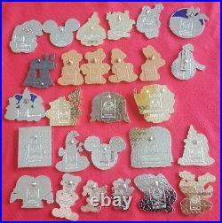 Disney Parks Christmas Set of 34 Pins Happy Holidays Thanksgiving Hanukkah Feliz