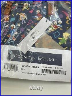 Disney Parks Dooney & Bourke Disney Afternoon Satchel Bag 90s Themed NWT