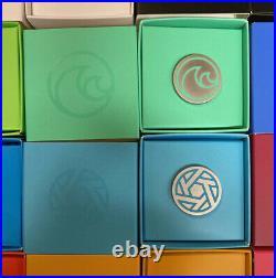 Disney Parks Epcot Logo Symbol Pavilion Logo 14 Limited Edition Pin Complete Set