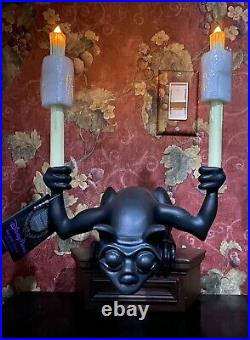 Disney Parks Haunted Mansion Light Up Candle Gargoyle Figure Figurine statue