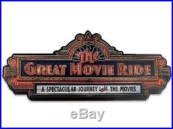 Disney Parks Hollywood Studios The Great Movie Ride Wood Wall Sign NEW IN BOX