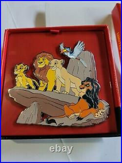 Disney Parks LE 1000 Jumbo Pin Lion King 25th Anniversary Pride Rock Simba Scar