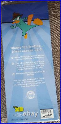 Disney Parks Lanyard Starter Set of 4 Pins Phineas and Ferb Perry Platypus Agent