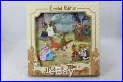 Disney Parks Pin LE 1000 Medieval Magic Robin Hood Boxed Set Maid Marrian Hiss