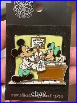 Disney Parks Pin Medical School Doctor's Day 2006 Mickey Minnie Mouse Nurse -New