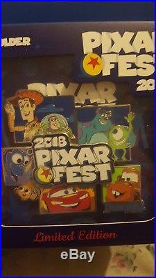 Disney Parks Pixar Fest 2018 Jumbo Pin AP Annual Passholder Exclusive LE 1000