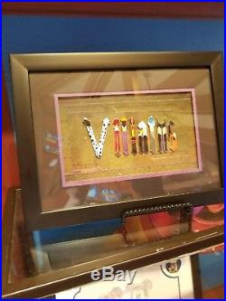 Disney Parks Trading Pins Villains Letter Alphabet Framed Set Picture Frame