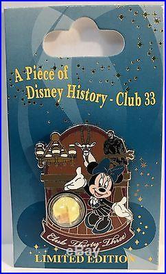 Disney Piece of Disney History Club 33 Minnie Mouse LE 1000 Pin