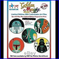 Disney Pin Acme Archives Hot Art Star Wars 3 5 Pin Set LE 250