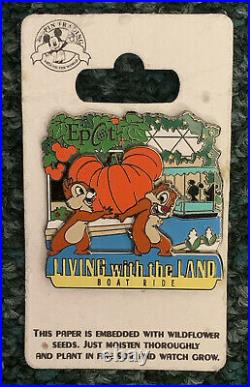 Disney Pin Chip And Dale Pumpkin Epcot Living With The Land Boat Ride Pins Set