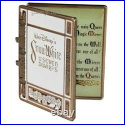 Disney Pin D23 Snow White 7 Dwarfs Storybook Jumbo Book Mirror WDW 50 Years 2021